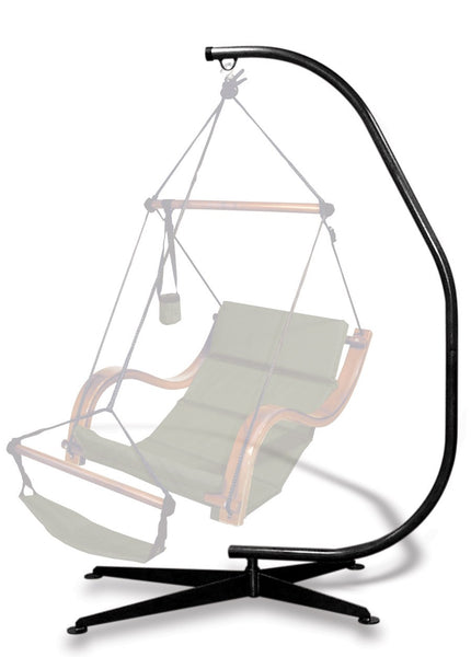 Hammaka Suelo Hanging Chair C Stand - Black - Swings N' Hammocks