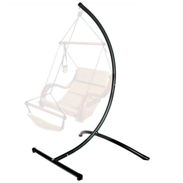 Hammaka Arc  Hanging Chair Stand In Black - Swings N' Hammocks - 1