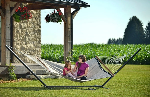 15ft 3-Beam Hammock Stand - Steel (Black) - Swings N' Hammocks - 1