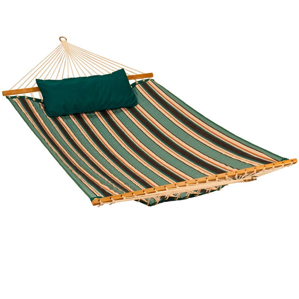 13' Reversible Sunbrella Quilted Hammock - Canvas Teal - Swings N' Hammocks