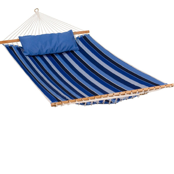13' Reversible Sunbrella Quilted Hammock - Canvas Capri Solid - Swings N' Hammocks