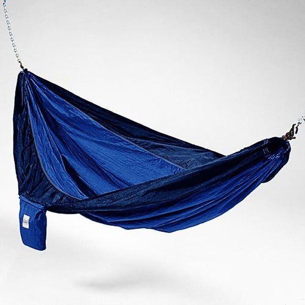 Dark Blue And Light Blue Hammaka Parachute Silk Hammock - Swings N' Hammocks