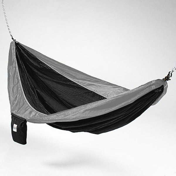 Black And Grey Hammaka Parachute Silk Hammock - Swings N' Hammocks