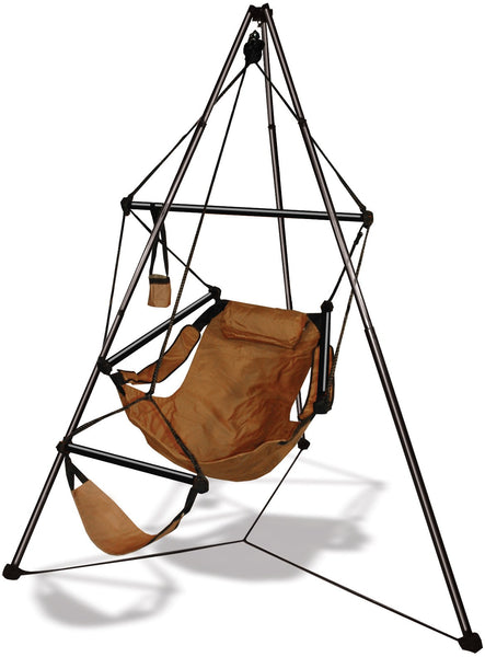 Hammaka Tripod Stand with Natural Tan Hanging Air Chair Combo - Swings N' Hammocks