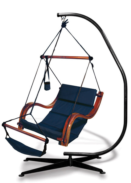 Hammaka Suelo Stand and Midnight Blue Nami Chair Combo - Swings N' Hammocks