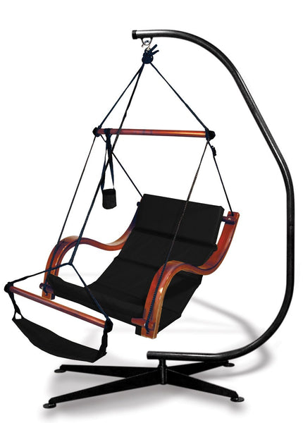 Hammaka Suelo Stand and Jet Black Nami Chair Combo - Swings N' Hammocks