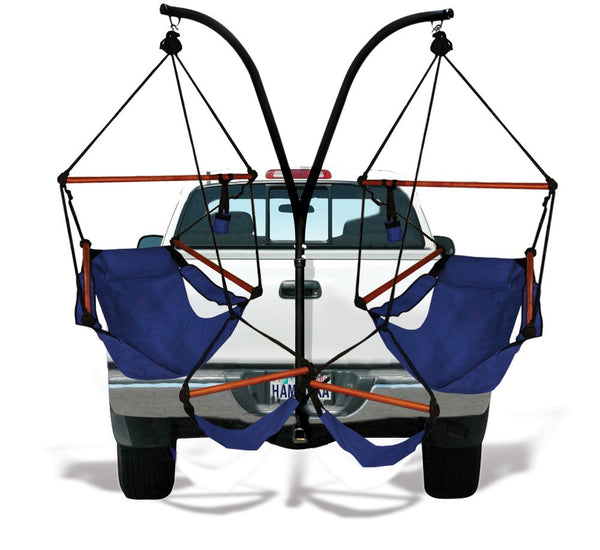 Hammaka Trailer Hitch Stand With Midnight Blue Hammaka Chairs Combo - Swings N' Hammocks