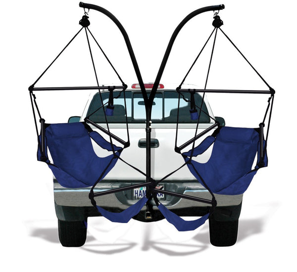 Hammaka Trailer Hitch Stand and Midnight Blue Hammaka Chairs Combo - Swings N' Hammocks