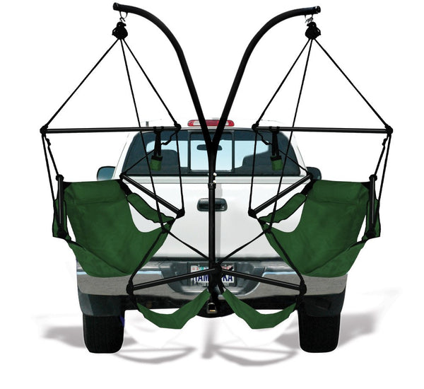 Hammaka Trailer Hitch Stand and Hunter Green Hammaka Chairs Combo - Swings N' Hammocks