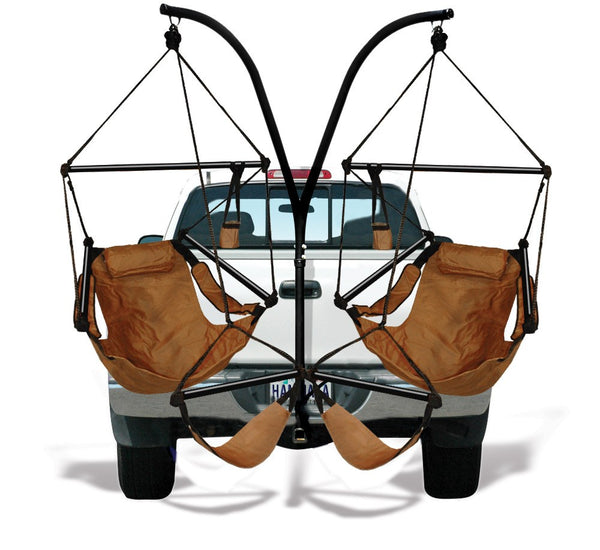 Hammaka Trailer Hitch Stand and Natural Tan Hammaka Chairs Combo - Swings N' Hammocks