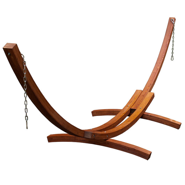 15 Foot Wood Arc Stand - Swings N' Hammocks - 1