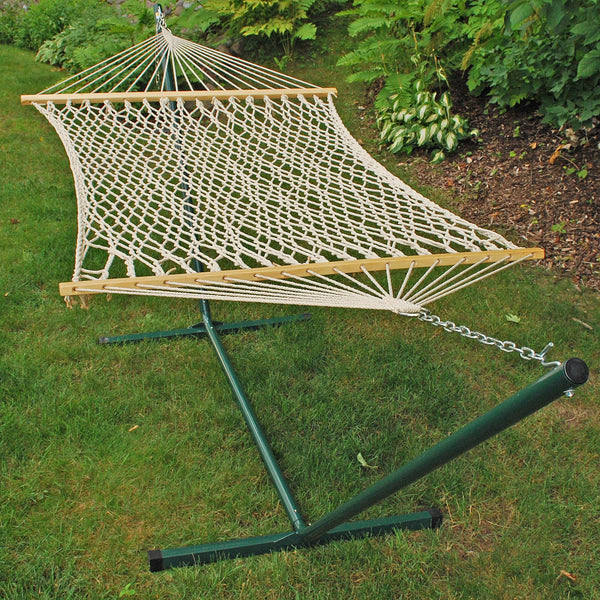 Cotton Rope Hammock and Stand Combination - Swings N' Hammocks - 3