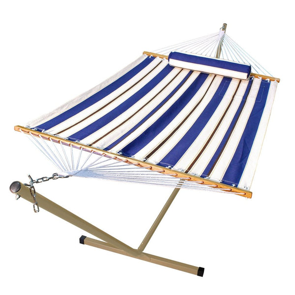 11' Fabric Hammock, Pillow, and Stand Combination - Swings N' Hammocks