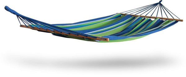 Hammaka Woven Hammock With Spreader Bar - Green - Swings N' Hammocks