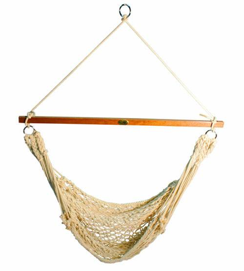 Hanging Cotton Rope Chair - Swings N' Hammocks - 1