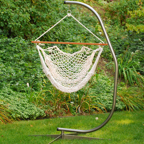Hanging Cotton Rope Chair - Swings N' Hammocks - 2