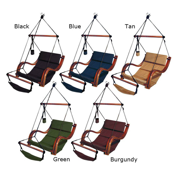 Hammaka Hammocks Nami Hanging Lounge Chair In Jet Black - Swings N' Hammocks - 2