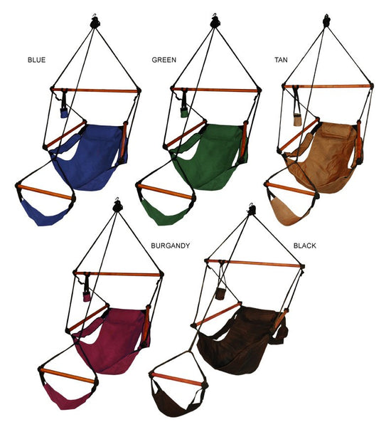 Hammaka Hammocks Original Hanging Air Chair In Hunter Green - Swings N' Hammocks - 2