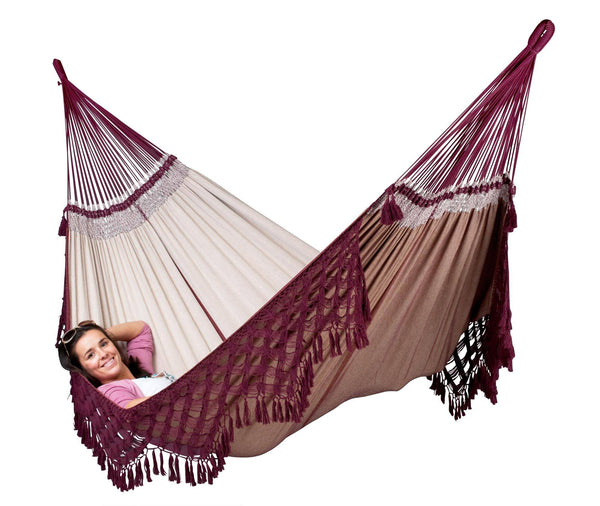 BOSSANOVA Organic Family Hammock bordeaux - Swings N' Hammocks - 2