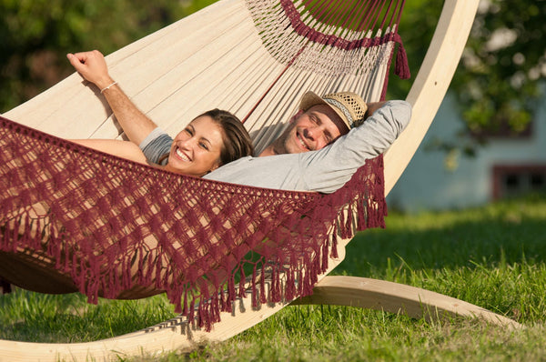 BOSSANOVA Organic Family Hammock bordeaux - Swings N' Hammocks - 4