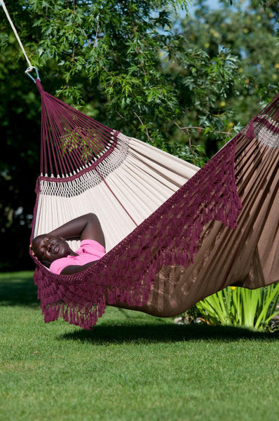 BOSSANOVA Organic Family Hammock bordeaux - Swings N' Hammocks - 3