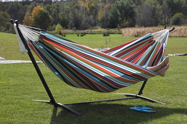 Vivere's Combo - Sunbrella Confetti Hammock with Stand (9ft) - Swings N' Hammocks - 1