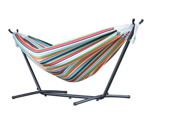 Vivere's Combo - Sunbrella Confetti Hammock with Stand (9ft) - Swings N' Hammocks - 2