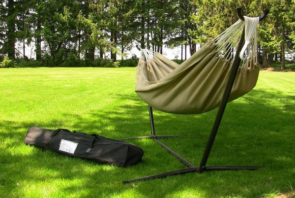 Vivere's Combo - Sunbrella® Sand Hammock with Stand (9ft) - Swings N' Hammocks - 1