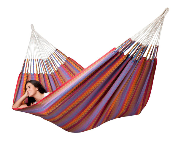 AVENTURA Weatherproof Double Hammock flowers - Swings N' Hammocks - 4