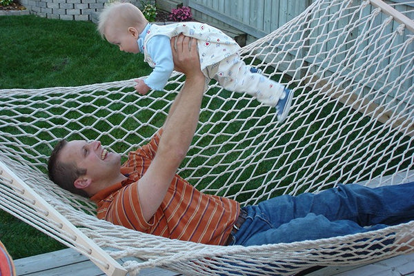 COTTON ROPE HAMMOCK - DOUBLE - NATURAL - Swings N' Hammocks - 2