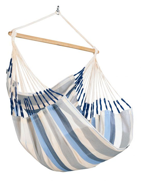 LA SIESTA® Domingo Sea Salt - Weather-Resistant Comfort Hammock Chair