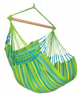 LA SIESTA® Domingo Lime - Weather-Resistant Comfort Hammock Chair