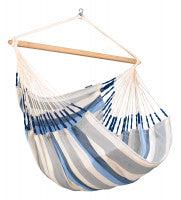 LA SIESTA® Domingo Sea Salt - Weather-Resistant Kingsize Hammock Chair