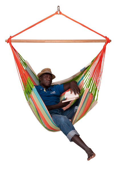 DOMINGO Weatherproof Lounger Hammock Chair coral - Swings N' Hammocks - 2
