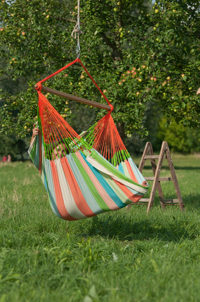 DOMINGO Weatherproof Lounger Hammock Chair coral - Swings N' Hammocks - 4