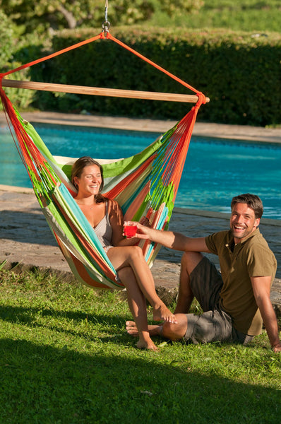 DOMINGO Weatherproof Lounger Hammock Chair coral - Swings N' Hammocks - 3