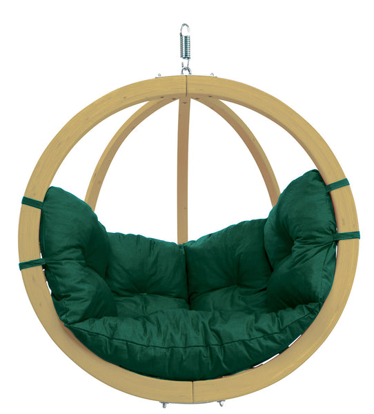 Globo Hanging Chair, Green, NEW! Outdoor Fabric - Swings N' Hammocks - 1