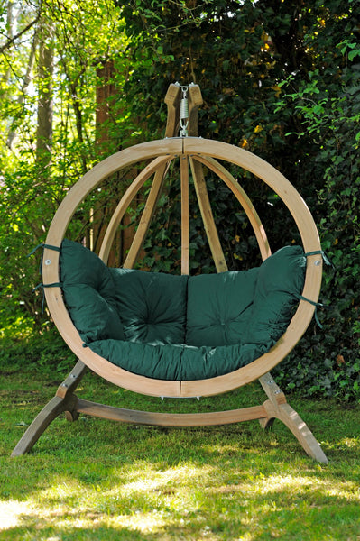 Globo Hanging Chair, Green, NEW! Outdoor Fabric - Swings N' Hammocks - 3