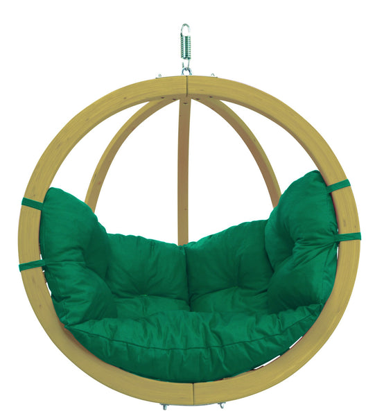 Globo Hanging Chair, Green, NEW! Outdoor Fabric - Swings N' Hammocks - 7