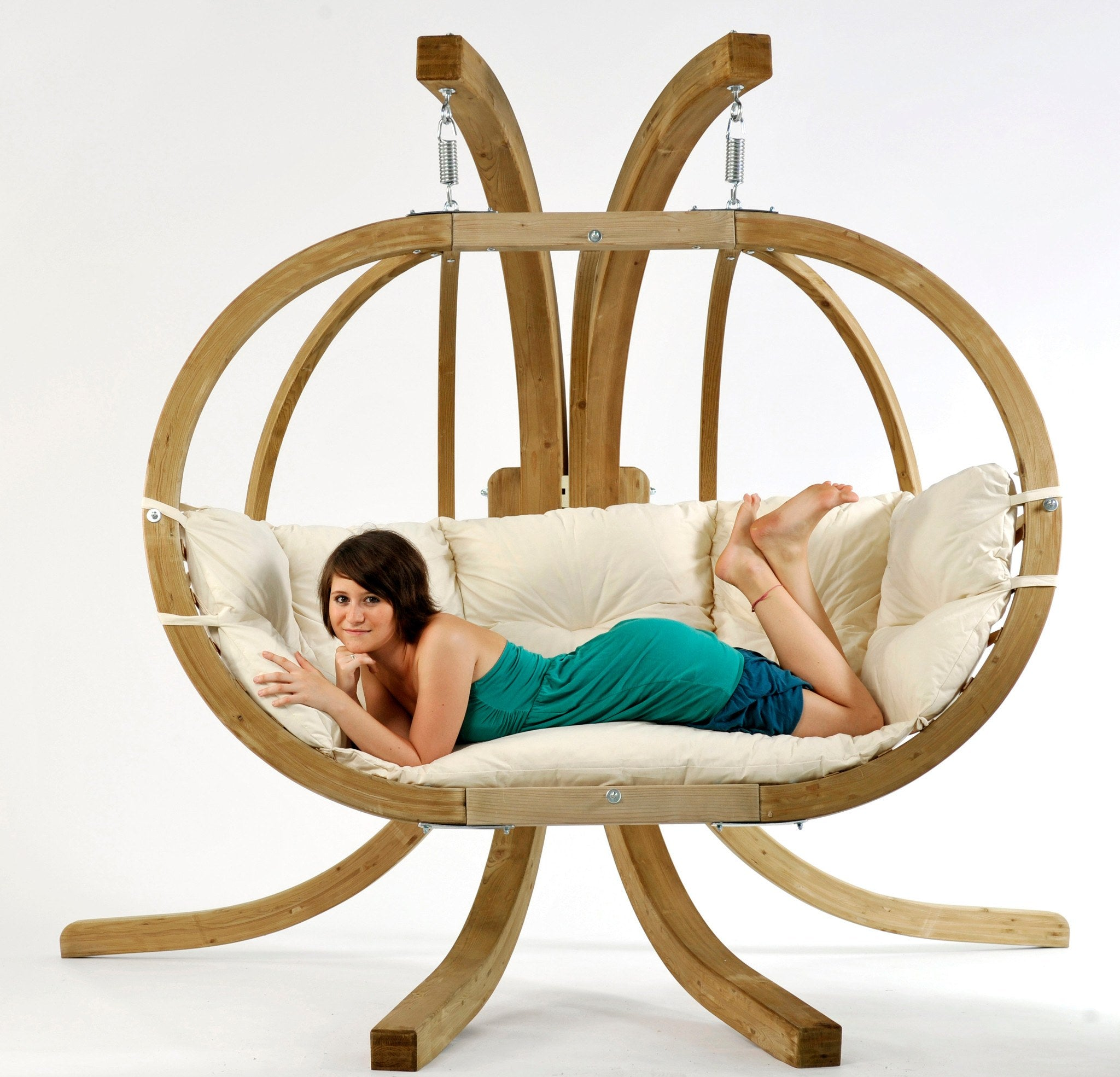 Sensational Byer Of Maine Globo Double Hanging Chair Natural New Alphanode Cool Chair Designs And Ideas Alphanodeonline