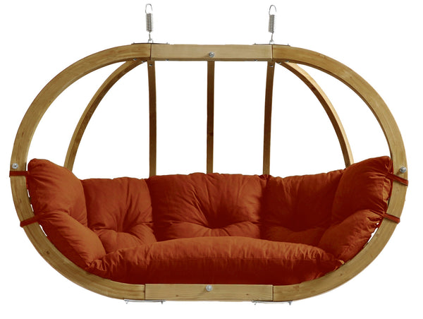 Globo Double, Terra Cotta, NEW! Outdoor Fabric - Swings N' Hammocks - 1