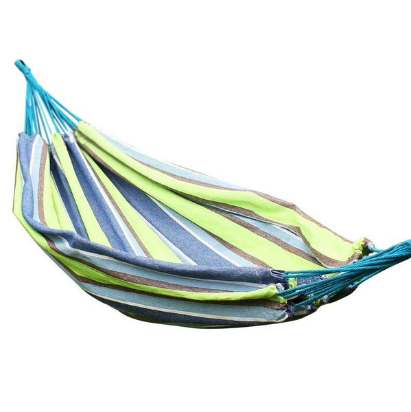 Adeco Oasis Green Stripe Hammock Bed (63 inch wide) - Swings N' Hammocks - 1