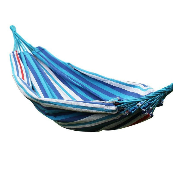 Adeco Naval-Style Atlantis Blue Stripe Hammock Bed (63 inch wide) - Swings N' Hammocks - 1