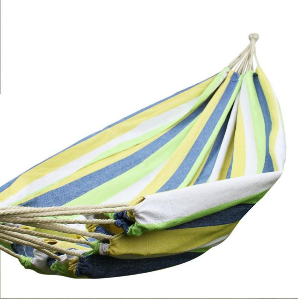 Adeco Beach Green Stripe Hammock Bed (63 inch wide) - Swings N' Hammocks - 1