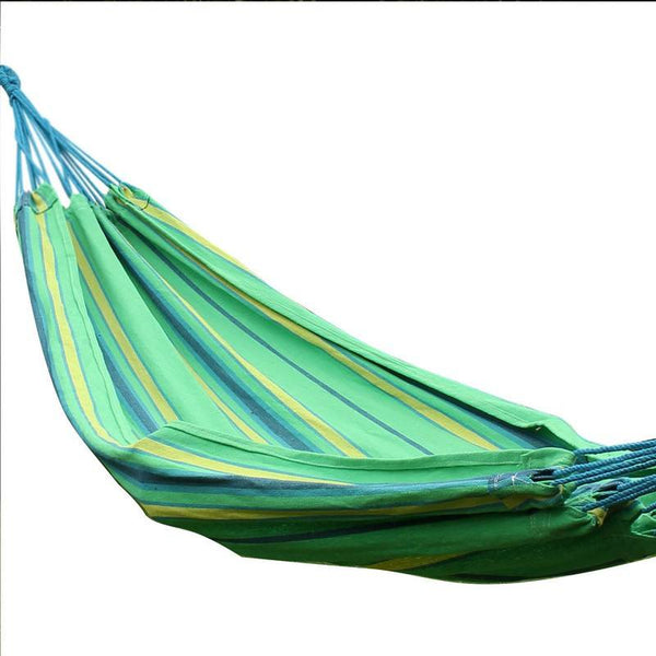 Adeco Cozumel Green Stripe Hammock Bed (40 inch wide) - Swings N' Hammocks - 1