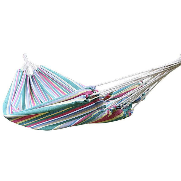 Adeco Cotton Fabric Canvas Hammock bed Tree Hanging Suspended Outdoor Indoor - Swings N' Hammocks - 1