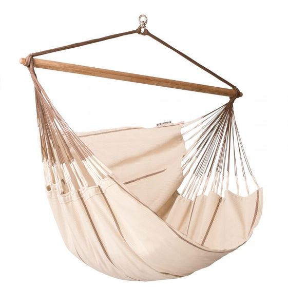 Habana Nougat - Organic Cotton Lounger Hammock Chair