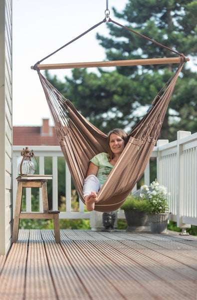 HABANA Organic Lounger Hammock Chair chocolate - Swings N' Hammocks - 3