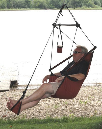 Hammaka Hammocks Original Hanging Air Chair In Burgundy - Swings N' Hammocks - 3