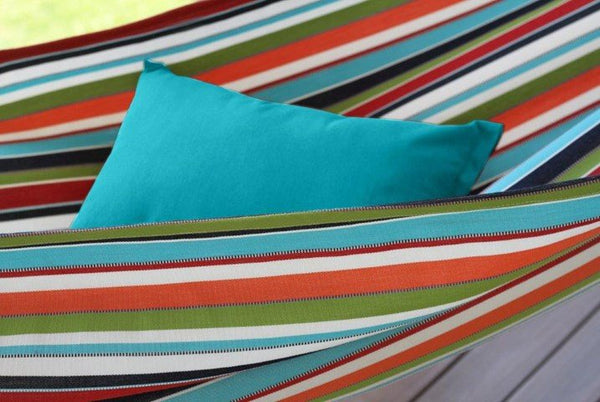 "20x14"" Throw Pillow - True Turquoise - Swings N' Hammocks"